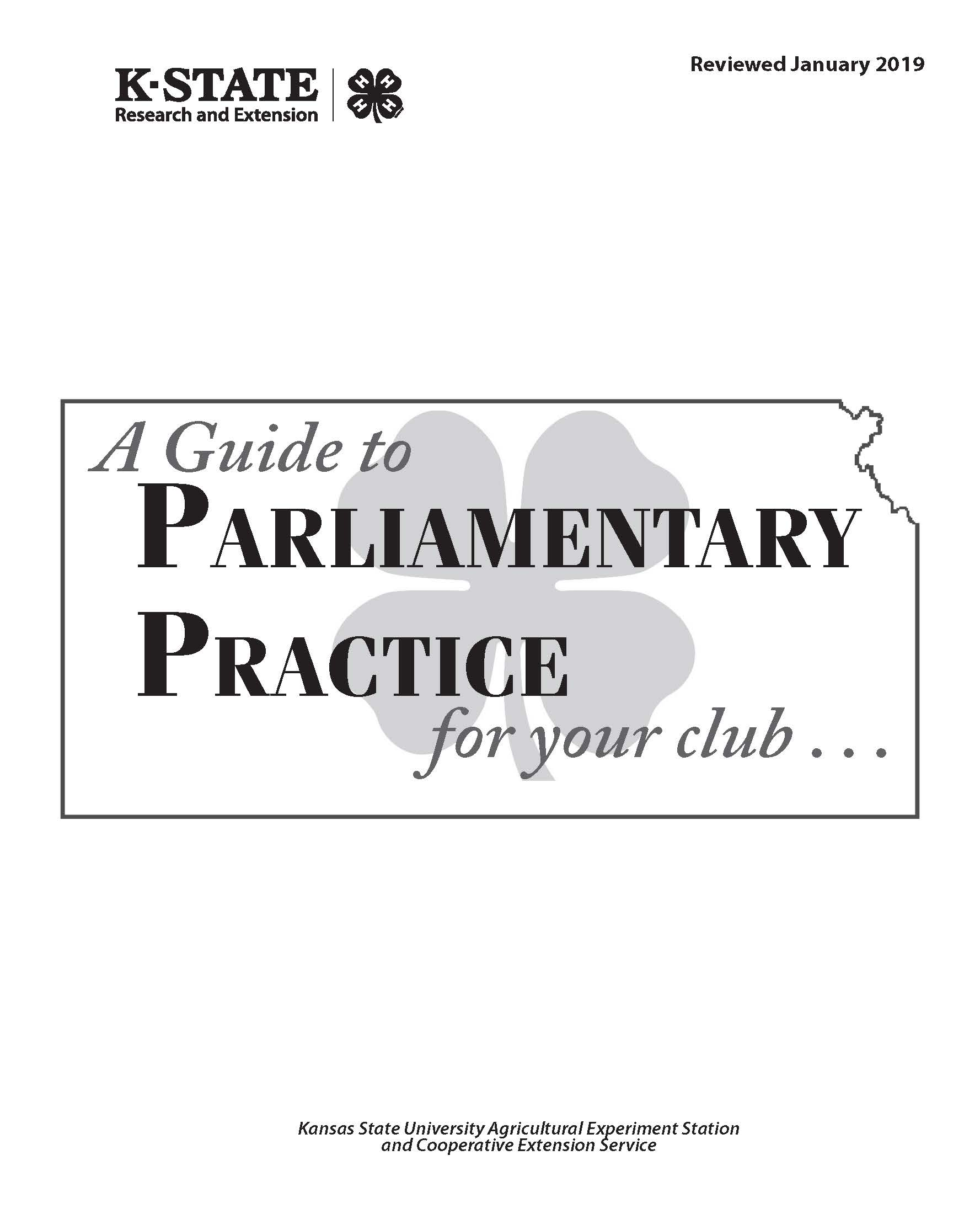 A Guide to Parlimentary Practices