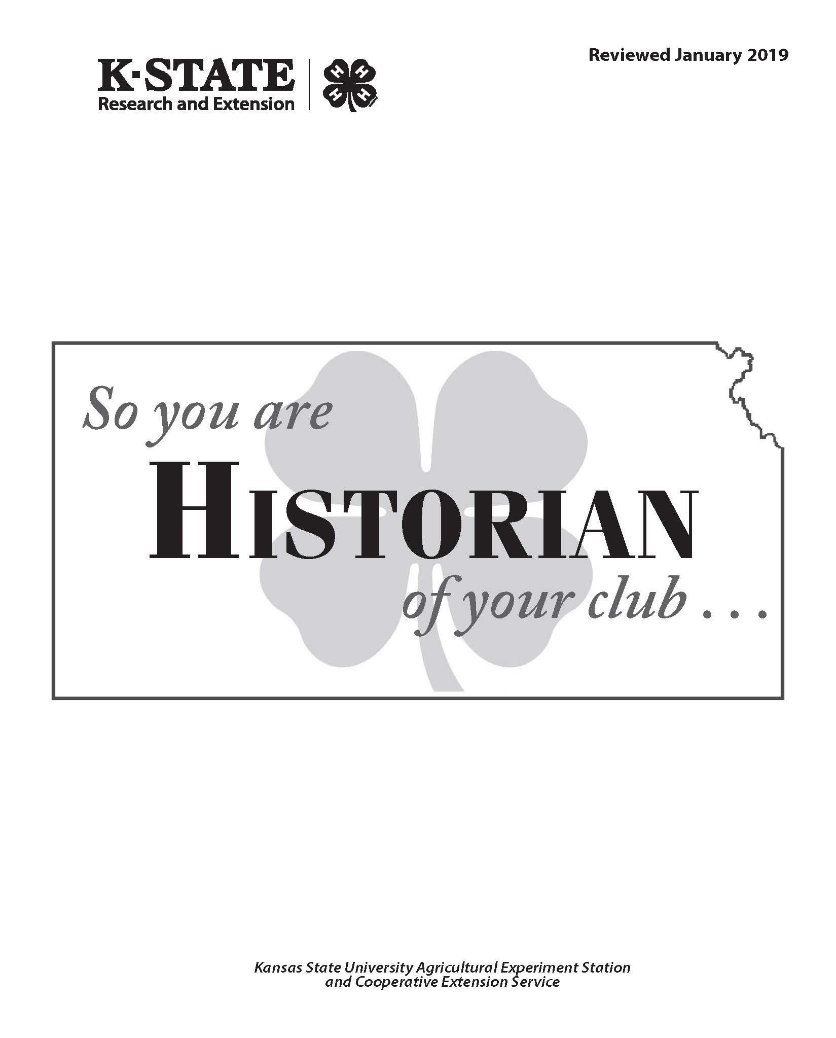So you are the Historian of your club