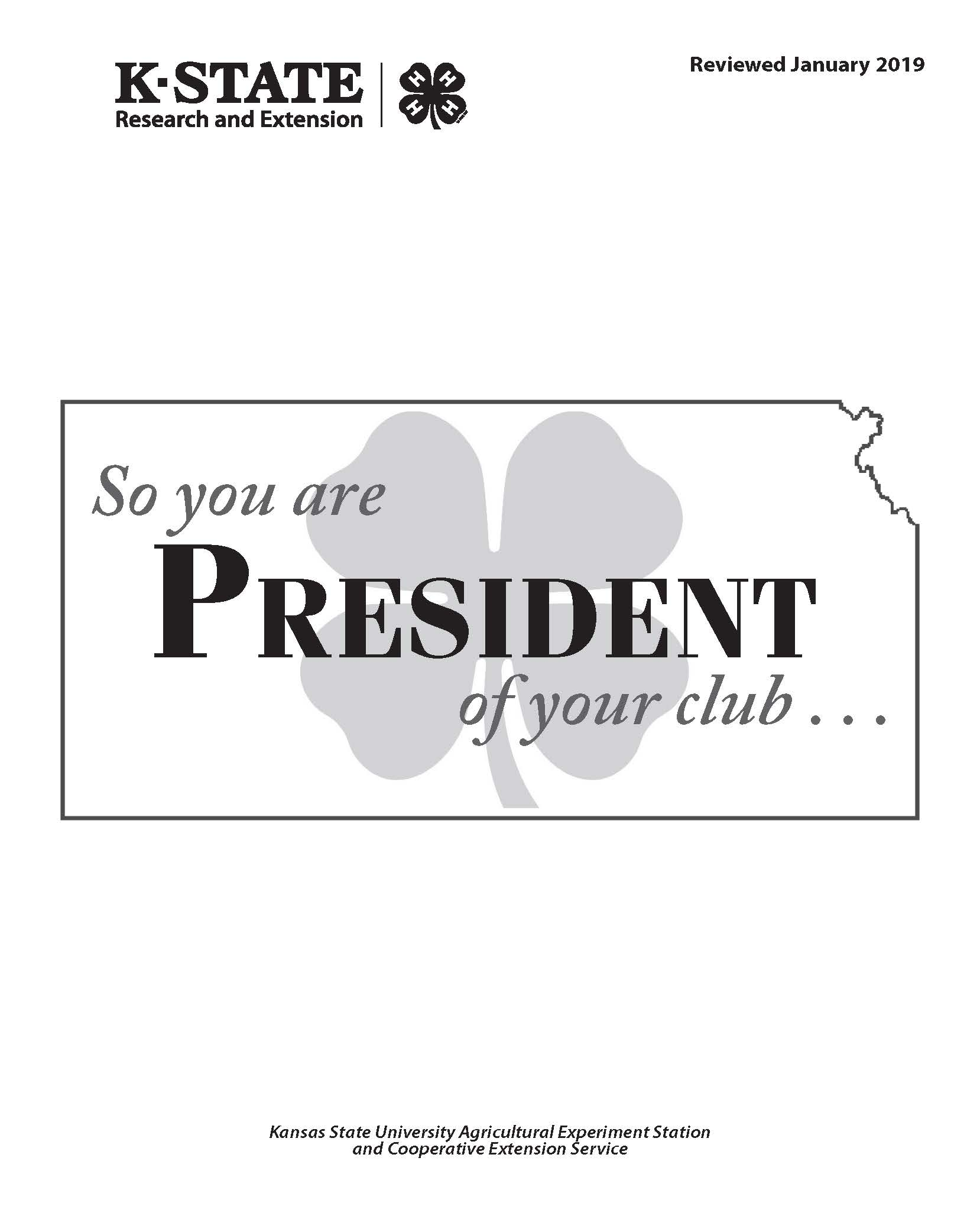 So you are President of your club