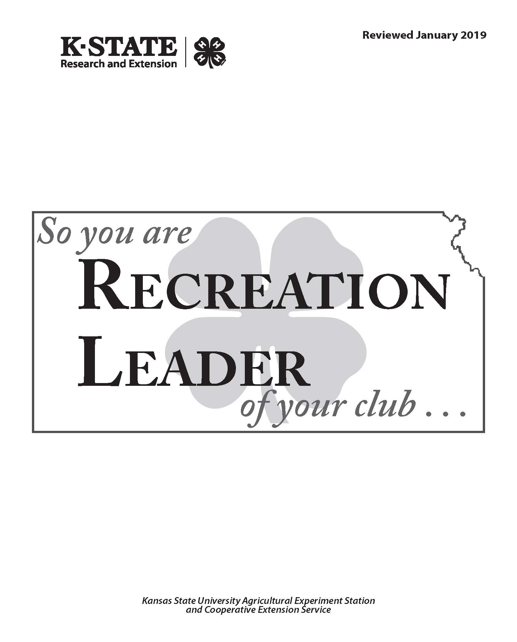 So you are the Recreation Leader of your club