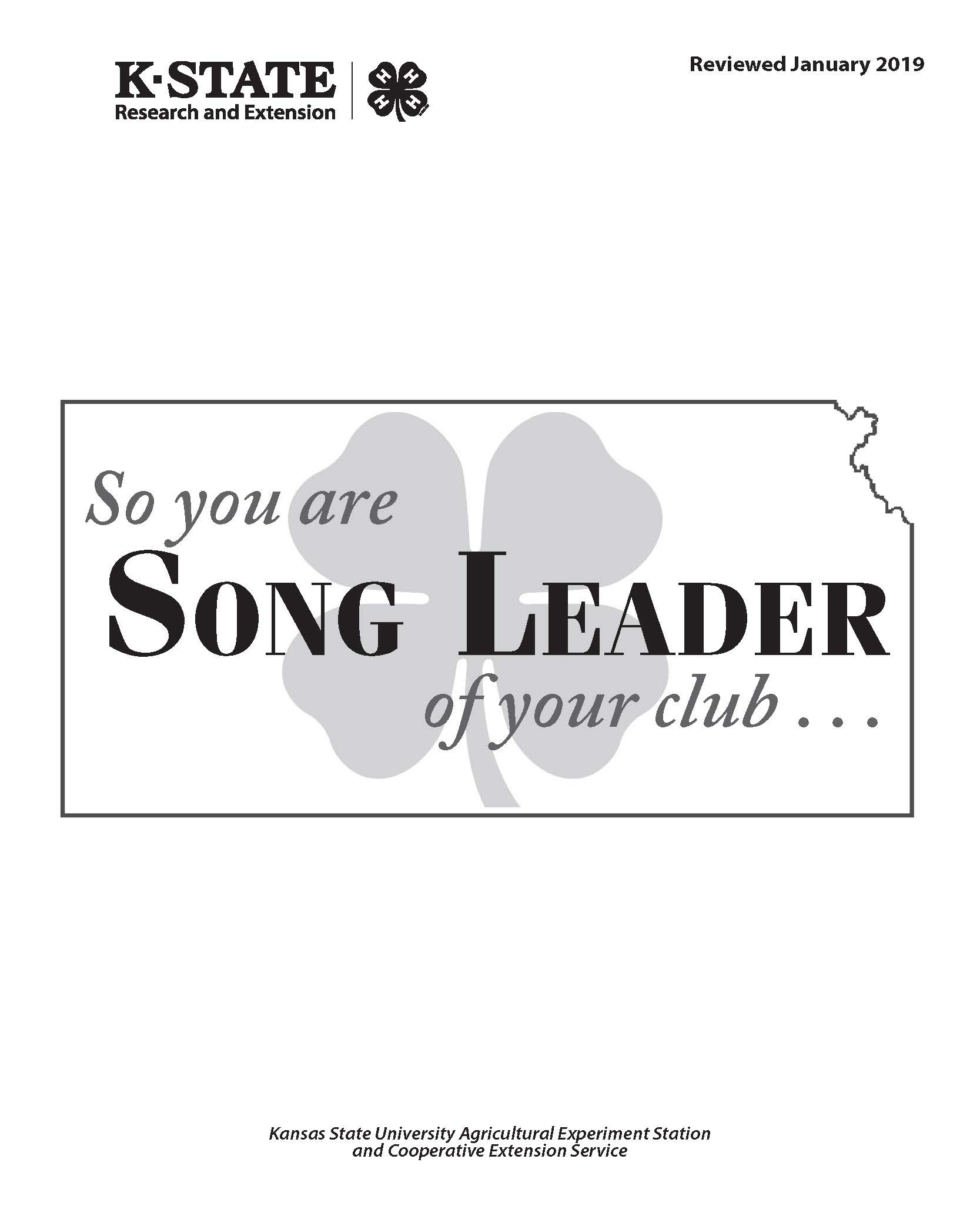 So you are the Song Leader of your club